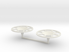 Brake Wheel 2x 1/16 Scale in White Natural Versatile Plastic