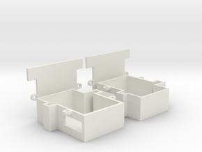 9g servo holder 2pcs in White Natural Versatile Plastic