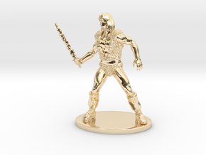 Thundarr the Barbarian Miniature in 14K Yellow Gold: 1:55