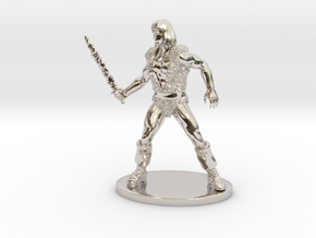 Thundarr the Barbarian Miniature in Rhodium Plated Brass: 1:55