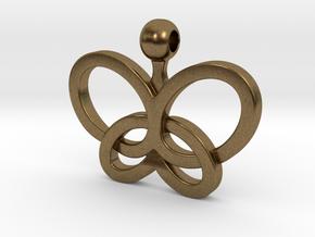 Custom Logo Pendant in Natural Bronze