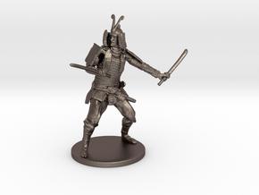 Samurai Miniature in Polished Bronzed Silver Steel: 1:55