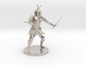 Samurai Miniature in Platinum: 1:55