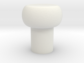 Aomway Commander Replacement Button Cap in White Natural Versatile Plastic