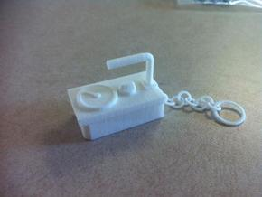 Geiger Counter Key-chain in White Natural Versatile Plastic