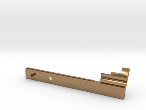Charging handle extension m4/m16 in Natural Brass