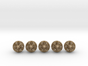 """Five Awesomeness Juggling Balls (5x2.5"""") in Polished Gold Steel"""