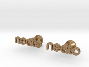 Custom Logo Cufflinks in Natural Brass