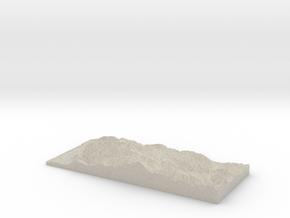 Model of White Rock Ridge in Sandstone