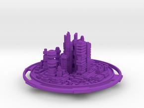 City in Purple Processed Versatile Plastic