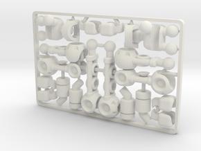 FullBorg Augmentation Kit for ModiBot in White Natural Versatile Plastic
