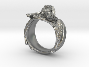 Vampire Bat Ring in Natural Silver: 6 / 51.5
