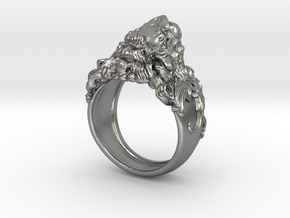 Roaring Lion King of Jungle Ring  in Natural Silver: 7 / 54