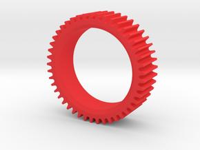 Round Air Cleaner Element in Red Processed Versatile Plastic