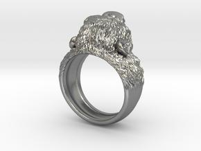 Aggressive Chimpanzee Ring in Natural Silver: 9 / 59