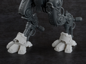 Mini Knight - Wolf Feet & Shin Guards in Smooth Fine Detail Plastic