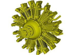 1/16 scale Wright J-5 Whirlwind R-790 engine x 1 in Smooth Fine Detail Plastic