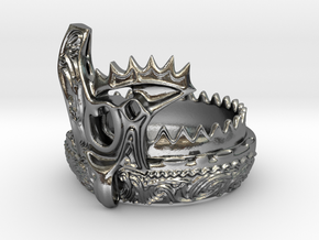 Jomon style ring -Kaen(flame)- in Polished Silver