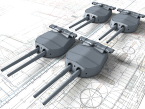 "1/144 HMS Hood 15"" (38.1 cm) Mark II Turrets 1920 in Smooth Fine Detail Plastic"