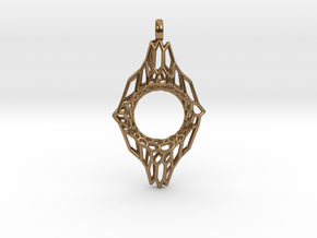 Mesh 7 Pendant in Natural Brass