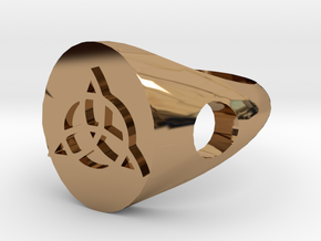 Triquerta Ring Size: Y/12 in Polished Brass