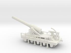 canon de 240 sur affut truc mle 70-81 1/144 in White Natural Versatile Plastic
