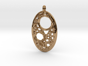 Oval Pendant 5 in Polished Brass