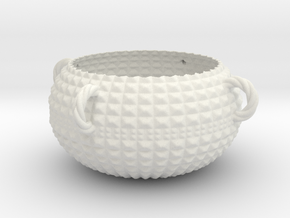 Boxy Bowl in White Natural Versatile Plastic