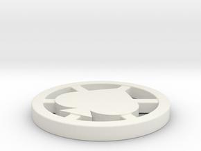 Poker Dealer Button in White Strong & Flexible
