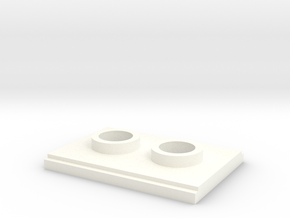 BACK GREEBLIE in White Processed Versatile Plastic