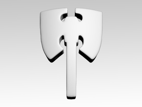 Axe Shoulder Icons x50 in Smooth Fine Detail Plastic