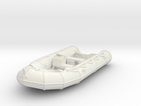 Zodiac 02 without motor. 1:72 Scale in White Natural Versatile Plastic