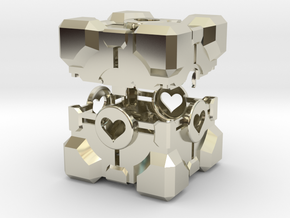 Portal ® Companion Cube Ring Box in 14k White Gold