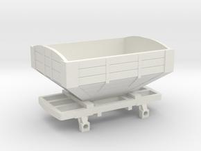 Snailbeach railway large hopper O-16.5 in White Natural Versatile Plastic