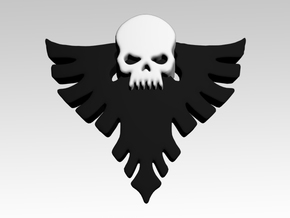 Skull & Eagle Shoulder Icons x50 in Smooth Fine Detail Plastic