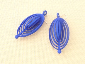 Ovals - Earrings in Nylon Plastic in Blue Processed Versatile Plastic