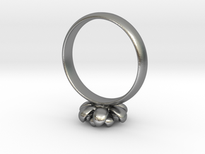 Flower Ring in Natural Silver