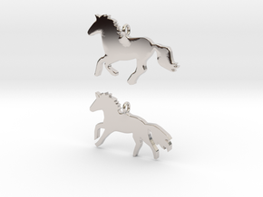 Horses earrings in Platinum: 28mm