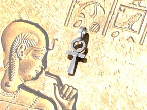 Ankh Cross Pendant XS in Polished Silver