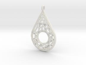 Drop Mesh 1 Pendant in White Natural Versatile Plastic
