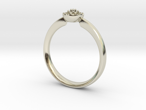 Small halo cluster NO STONES SUPPLIED in 14k White Gold