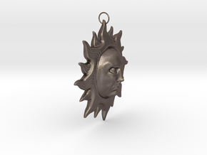 Sunlords Pendant in Polished Bronzed Silver Steel
