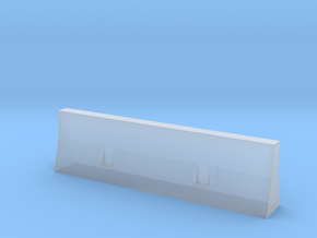concrete barrier scale 1/87 in Smooth Fine Detail Plastic