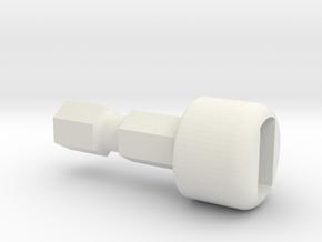 Team Associated Ballcuptool Tip 91721 B6-B64 in White Natural Versatile Plastic