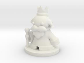 King (Beta) in White Natural Versatile Plastic