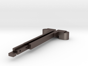 AEG M4 charging handle in Polished Bronzed Silver Steel