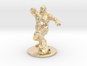 Yeti Miniature in 14K Yellow Gold: 1:60.96