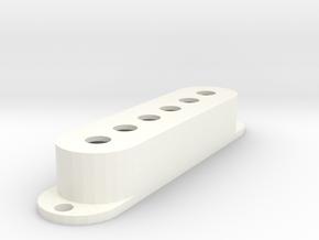 Strat PU Cover, Single, Classic in White Processed Versatile Plastic