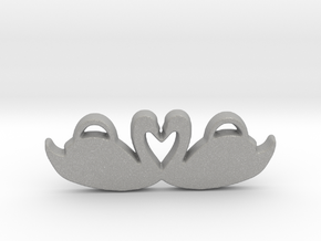 Swans Forming a Heart in Aluminum