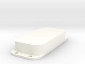 Strat PU Cover, Double, Closed in White Processed Versatile Plastic